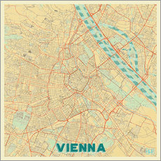 Vienna Map Retro