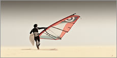 windsurfer in the sand