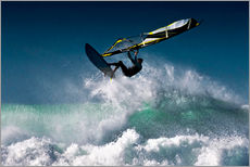 Windsurfer in the air
