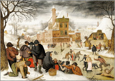 Winterlandscape with skaters