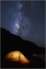 Tent and starry sky