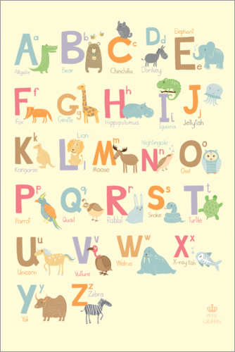 Poster ABC for the nursery
