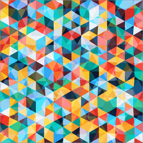 Poster Abstract Mosaic Pattern