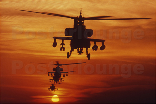 Stocktrek Images - AH-64 Apache anti-tank helicopters