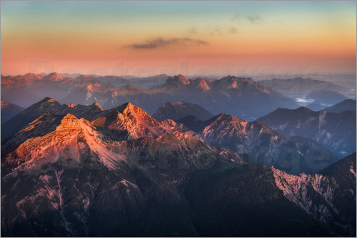 Andreas Wonisch - Alps Panorama from Zugspitze at Sunrise