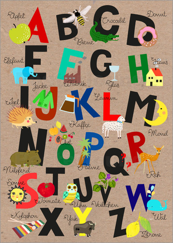 Poster Alphabet-German