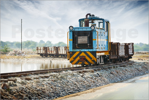 Old freight train, India