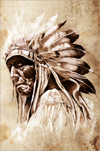 Poster Elder native American
