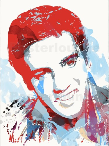 Poster alternative elvis presley pop art print