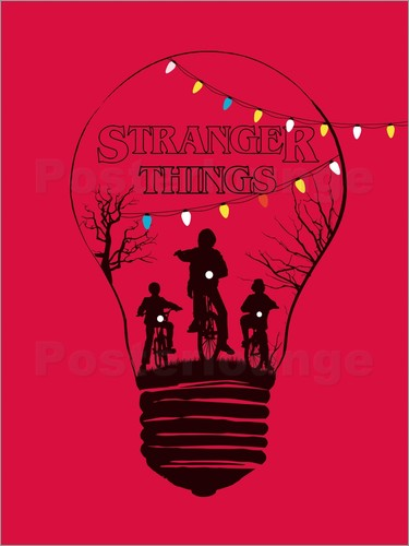 Golden Planet Prints Alternative Stranger Things Red