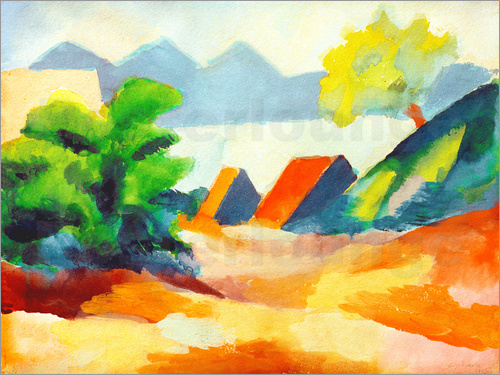 August Macke - By the lake Thun I