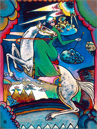Wassily Kandinsky - Amazon in the Mountains