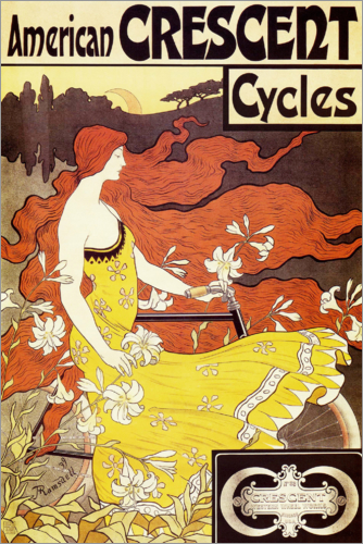 Poster American Crescent Bicycles