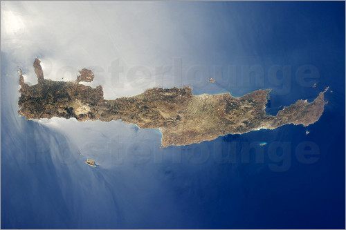 Stocktrek Images - View from space of the island of Crete