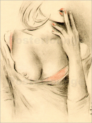 Poster Aphrodite the modern - erotic woman picture