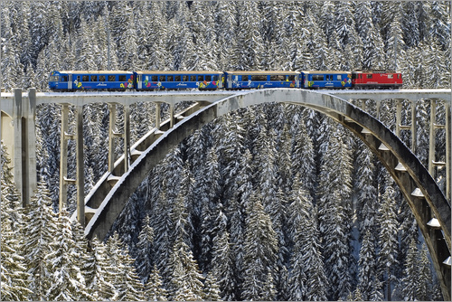 Poster Arosa train | Langwies Viaduct