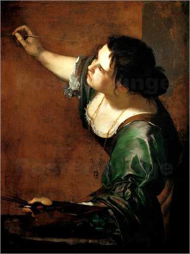 Artemisia Gentileschi - Artemisia Gentileschi as the Allegory of Painting