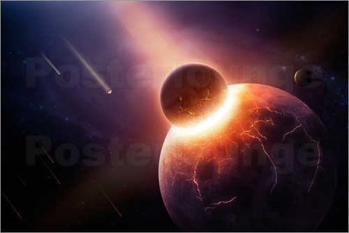 Johan Swanepoel - Planet earth destroyed in collision with asteroid