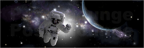 Marc Ward - Astronaut floating in outer space