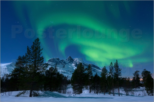 Poster Aurora Borealis in Norway