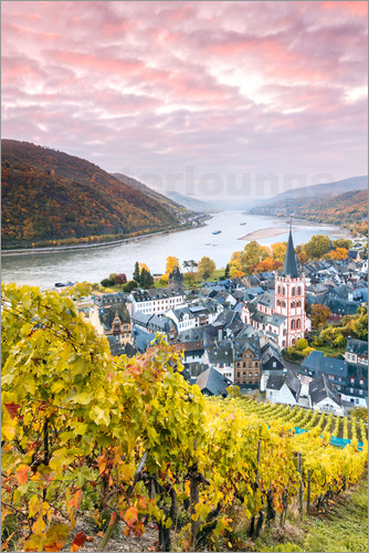 Poster Bacharach on the Rhine
