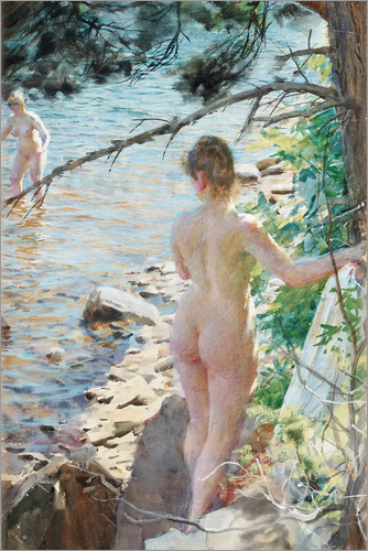 Anders Leonard Zorn - Swimming in the summer