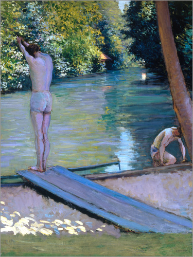 Gustave Caillebotte - Badende at the river Yerres