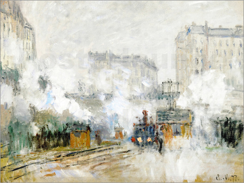 Claude Monet - Railway station Saint-Lazare