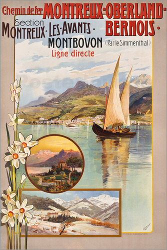 Poster Railway Montreux