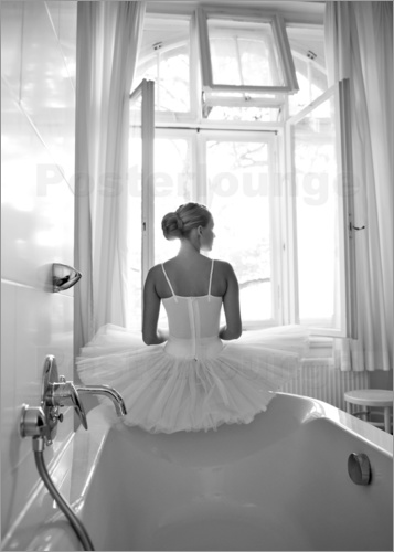 Poster Ballerina the bathroom