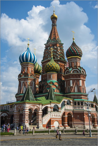 Poster St. Basil's Cathedral, Moscow