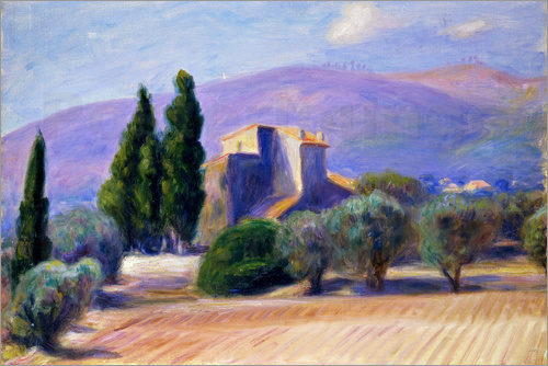 William James Glackens - Farm House in Provence
