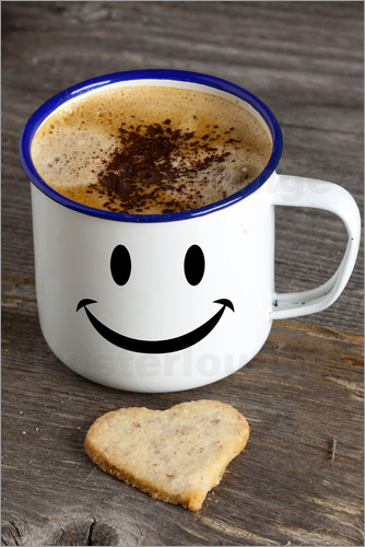 Poster Cup with smiley face