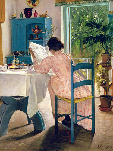 Laurits Andersen Ring - At Breakfast, 1898