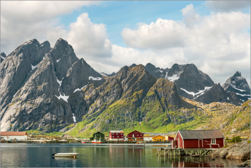 Poster Mountain Landscape | Lofoten Islands | Norway