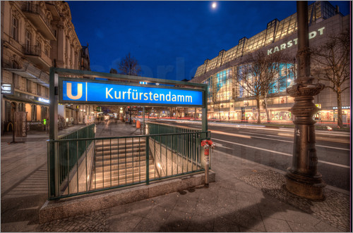 stefan sch fer berlin kurf rstendamm ubahn poster posterlounge. Black Bedroom Furniture Sets. Home Design Ideas