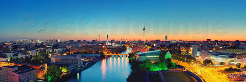 Poster Berlin Skyline Panorama