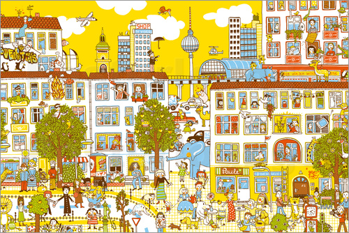 Poster Berlin Search and Find by Judith Drews