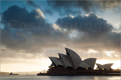 Poster Famous Sydney Opera House at sunrise, Australia