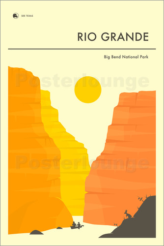 Jazzberry Blue - BIG BEND NATIONAL PARK POSTER