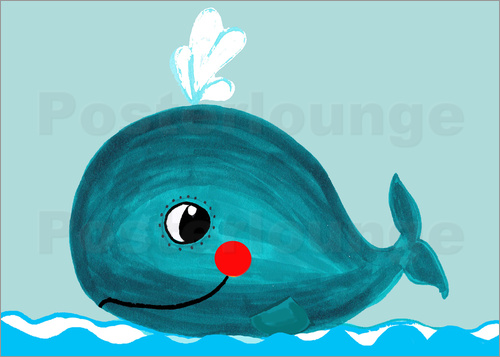 Little Miss Arty - - blue whale