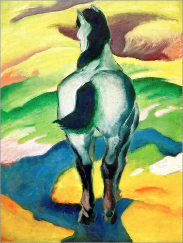 Poster Blue horse II