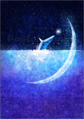 Hajin Bae - Blue whale and crescent