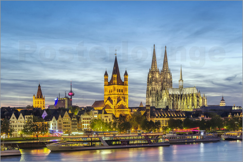 Overlooking the historic center of Cologne