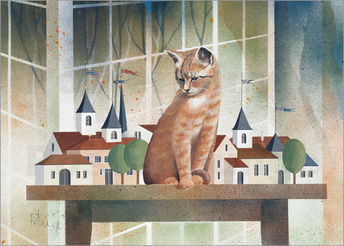 Franz Heigl - View of the cat