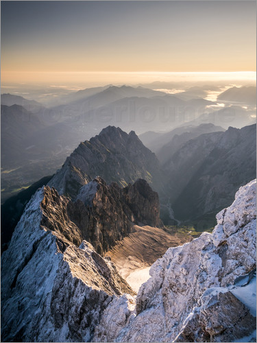 Poster View over the Alps from Zugspitze