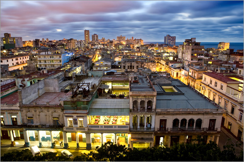 Poster View over Havana