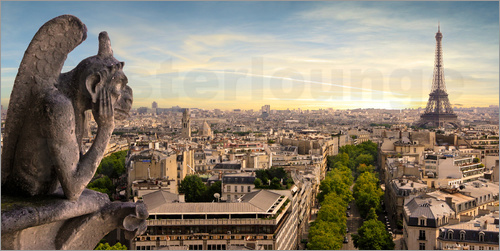Poster View over Paris