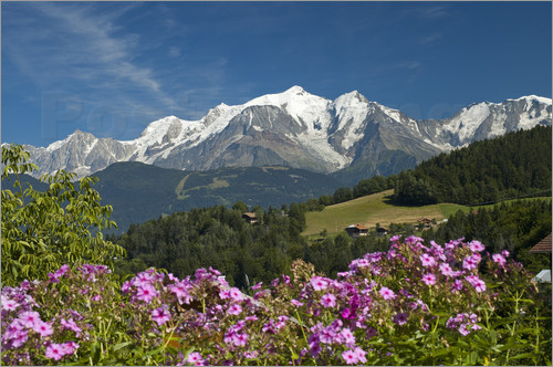 Frauke Scholz - View from the village Cordon to Mont Blanc Massif, France