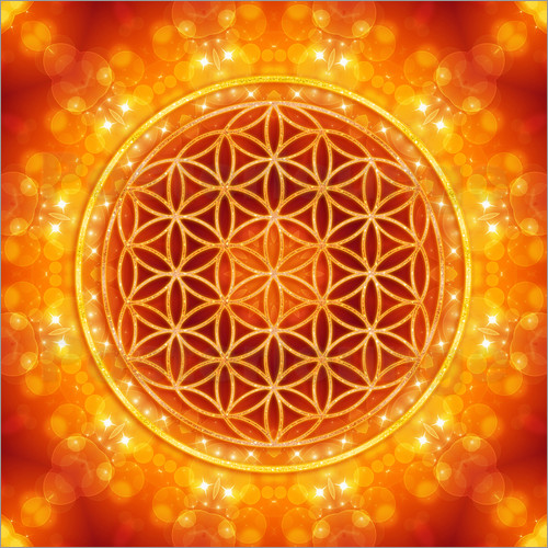 Poster Flower of Life - Golden Age